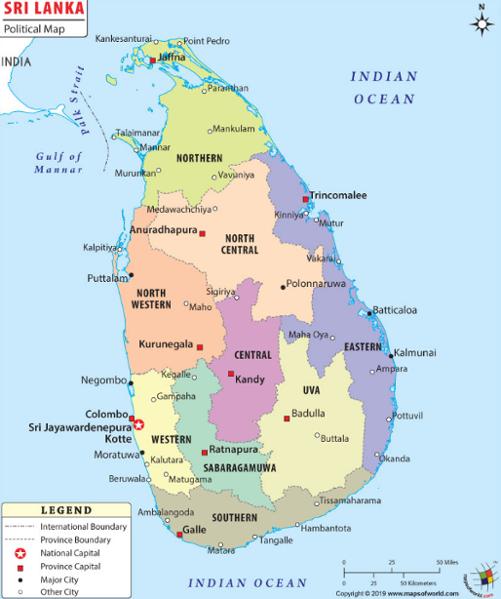 Rallier les différentes villes du Sri Lanka en bus